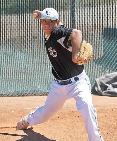 Matt Hinshaw/The Daily Courier<br /><br /><!-- 1upcrlf2 -->Yavapai College closer Pulama Silva is second among the nation's JUCO pitchers this season with 15 saves. He also tallied 61 strikeouts and boasts a 0.77 ERA.
