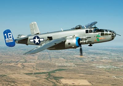 "Courtesy photo<br> The B-25 Mitchell Bomber ""Made in the Shade"" is one of two WWII planes that will arrive this week for a public viewing at Ernest A. Love Field."