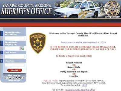 Accident reports available online from Sheriff's Office