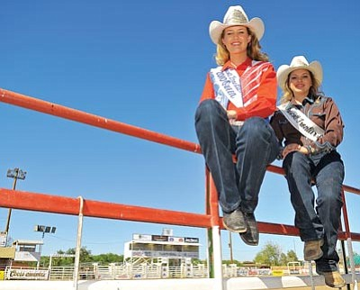 Matt Hinshaw/The Daily Courier<br>Prescott Frontier Days World's Oldest Rodeo 2010 Rodeo Queen Chantel Miles and Senior Court Queen Rebecca Johnson spent the past year representing Prescott and PFD Rodeo at events throughout Arizona.