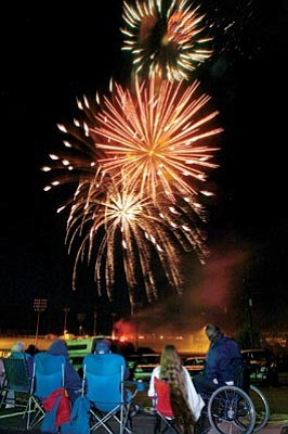 Courier file<br>Fireworks will return this year to both Mountain Valley Park in PV and to Pioneer Park in Prescott.