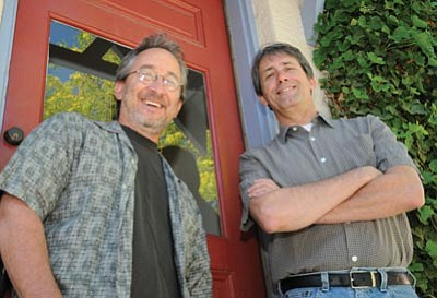 Matthew Ackerman (above, right) got a bachelors of science degree in architecture from the Georgia Institute of Technology in 1980.<br /><br /><!-- 1upcrlf2 -->He has more than 20 years experience in sustainable planning and design and he was the first architect in the county to earn the U.S. Green Building Council's Leadership in Energy and Environmental Design (LEED) professional accreditation.<br /><br /><!-- 1upcrlf2 --><br /><br /><!-- 1upcrlf2 -->Jeffrey Zucker (above, left) got his degree in architecture in 1972 from Ohio State University and spent five years working under Paolo Soleri as project architect and construction supervisor at Arcosanti.<br /><br /><!-- 1upcrlf2 -->Zucker began working in the field of sustainability and energy efficient design in the early 1970s.<br /><br /><!-- 1upcrlf2 --><b>Brett Soldwedel/The Daily Courier