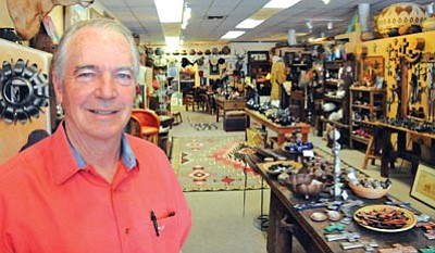 Brett Soldwedel/The Daily Courier<br> Jeff Ogg opened Ogg's Hogan Native American arts and crafts store in Prescott in 1998. His grandparents opened the original Ogg's Hogan in Wickenburg in 1949.