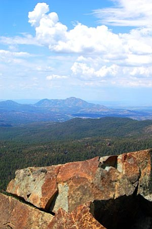 Joanna Dodder/The Daily Courier<br> Granite Mountain is visible in the background of this view from the top of Spruce Mountain.