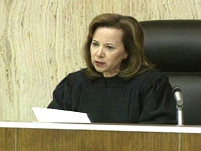 The Associated Press<br> This undated file photo taken from video and provided by KSAZ-TV FOX 10 shows U.S. District Judge Susan Bolton on the bench in Phoenix.