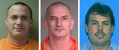 Mohave County Sheriff's Office<br> Tracy Province, John McClusky and Daniel Renwick, all convicted of murder, escaped from a northwest Arizona prison on Friday.