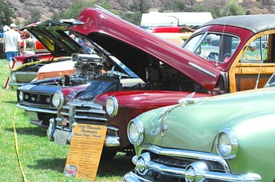 Matt Hinshaw/The Daily Courier<br>The Prescott Antique Auto Club will celebrate its 40th year this weekend during its summer car show, parts exchange and old engine fire-up at Watson Lake Park.