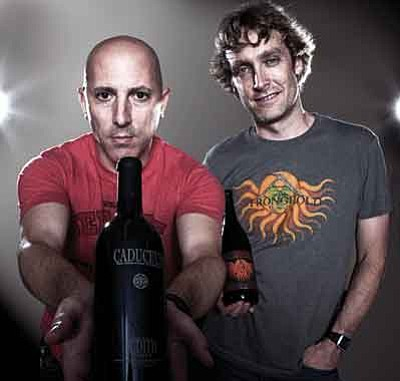 David Goldman/Courtesy photo<br>Maynard James Keenan and Eric Glomski are the brains behind Arizona Stronghold wines, which they produce from grapes in southern and northern Arizona.