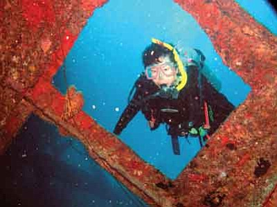 Courtesy photo<br>The Toms of Chino Valley took up scuba diving in 1985 and have photographed many beautiful and unusual sights in oceans throughout the world.