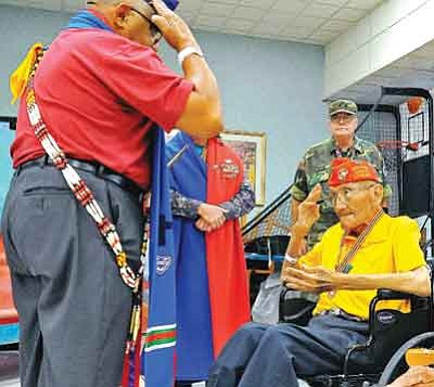 Matt Hinshaw/The Daily Courier, file<br>In this file photo from July 31, 2010, Sgt. Allen D. June, USMC Ret., was awarded the Warriors Medal of Valor at the Bob Stump VA Medical Center in Prescott.