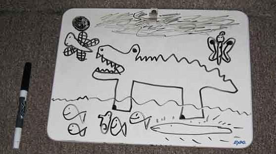 My daughter's spontaneous artwork. Photo: Jenny Williams
