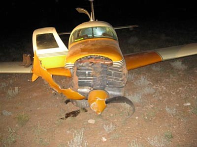 Yavapai County Sheriff's Office/Courtesy photo<br> Randy Donnarumma of Kingman crashed a single-engine prop Aerostar around 12:50 a.m. north of the Seligman airport. Donnarumma's injuries do not appear to be life-threatening.