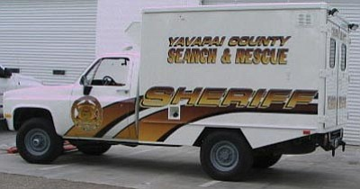 Yavapai County Sheriff's Office/Courtesy<br>A 1984 U.S. Army Chevrolet 4x4 Utility Cargo Vehicle that volunteers bought from Crown King Fire has been renovated as YCSO's new remote command vehicle.