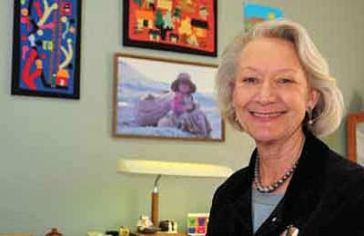 Les Stukenberg/The Daily Courier<br>Becky Ruffner, who was among eight recipients of the 2010 World Award honorees of the Girl Scouts-Arizona Cactus-Pine Council, will be honored at an awards luncheon Dec. 4. for her World of Humanity Award.