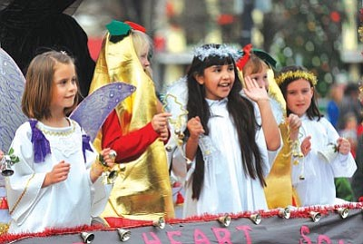 Sacred Heart Catholic School won an award for its entry in the 2010 Prescott Christmas Parade.