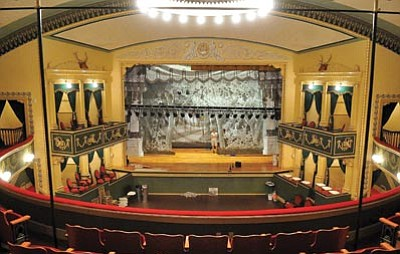 Matt Hinshaw/The Daily Courier<br> The Elks Opera House, which was recently restored to closely replicate its original design, celebrates its 106th anniversary this weekend with three vintage films.