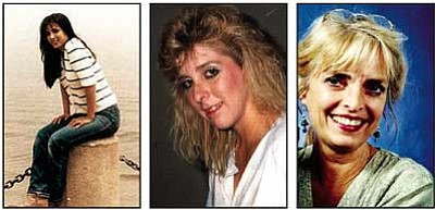 From left: Cathy Sposito, a student at Prescott College, was murdered on June 13, 1987, while hiking on the Thumb Butte Trail west of Prescott. Pamela Pitts, 19, was last seen the night of Sept. 16, 1988, at a party at the Alto Pit camping site just outside of Prescott. Kristal Forest, 65, of Cottonwood, has been missing since March 28, 2009. She was last seen at a storage yard in Camp Verde. Anyone with information on these or any other cases can call Yavapai County Sheriff's Office Investigations at (928) 771-3278, or Yavapai Silent Witness at 1-800-932-3232, or e-mail the Cold Case unit at web.sheriff@co.yavapai.az.us. (Yavapai County Sheriff's Office/Courtesy photos)