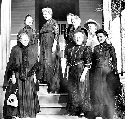 Courtesy photo<br>A few of the ladies of the Monday Club in the early 1900s.