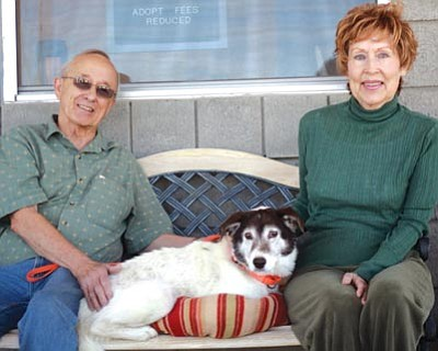 "Courtesy photo<br> Dewey was adopted by John and Loretta Aiden on April 12. ""I could tell Dewey had some years left in him,"" said John. ""I just wanted to make sure they were going to be good ones."""