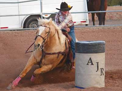 Courtesy photo<br>Next month's youth rodeos give cowboys and cowgirls like barrel racer Madison Bates a chance to compete.