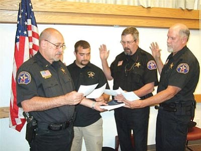 From left to right are Lt. David Kyburz, Cory Marshall, Mike Johnson and Jim Weingartner.
