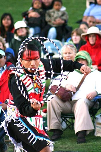 Courtesy photo<br> Tony Duncan, world champion hoop dancer with the Yellowbird Dancers, will perform at noon Saturday and Sunday at the Smoki Museum's 7th annual Southwest Indian Arts Festival.