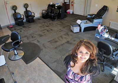 Matt Hinshaw/The Daily Courier<br> Andrea Bernardo, owner of Isis Hair and Nail Salon, opened the doors to her business in Prescott Valley this past March.