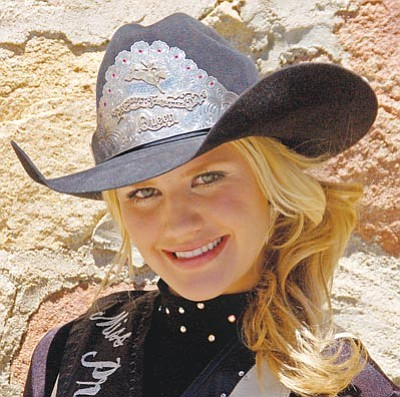 Paula Rhoden/The Daily Courier<br /><br /><!-- 1upcrlf2 -->Prescott High grad Emily Goswick logged lots of miles as the 2011 Prescott Frontier Days Rodeo Queen. She visited veterans groups and schools, among others, in the past year.