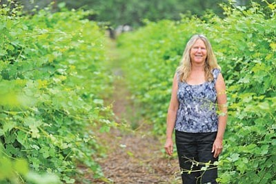 Matt Hinshaw/The Daily Courier<br>Robin Hoult, owner of Granite Creek Vineyards in Chino Valley, opened the doors of her business to the public in 2004.