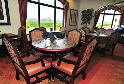 Les Stukenberg/The Daily Courier<br /><br /><!-- 1upcrlf2 -->Residents can opt to have breakfast, lunch or dinner in the Alta Vista Retirement Community dining room.