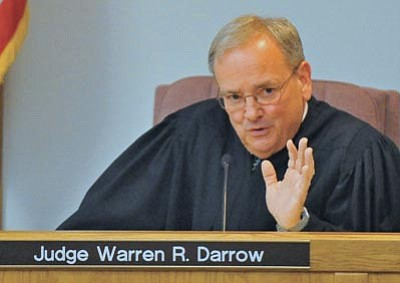 Matt Hinshaw/The Daily Courier<br> Judge Warren Darrow speaks during the Steven DeMocker trial Oct. 29, 2010, at the Yavapai County Courthouse in Prescott.