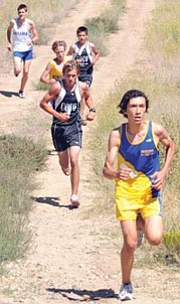 Brett Soldwedel/The Daily Courier, file<br /><br /><!-- 1upcrlf2 -->PHS sophomore Vincent Arminio, front, competes in the 2010 Ray Wherley Invitational at ERAU.