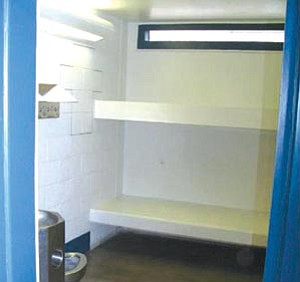 YCSO/Courtesy photo<br> This 7-foot by 11-foot cell is identical to the one Steven DeMocker is staying in, according to Yavapai County Sheriff's Office spokesman Dwight D'Evelyn.