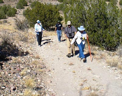 Courtesy HCNH<br>Hikers participate in last year's Hiking Spree near the Highlands Center for Natural History.
