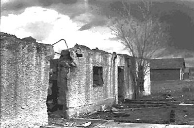 Sharlot Hall Museum/Courtesy photos<br>A photo taken in 1976 shows what was then left of the house at Del Rio Springs used first as the headquarters for old Fort Whipple, and then as a residence for Robert and Hannah Postle in 1867.