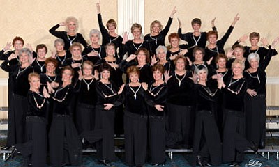 Courtesy photo<br>Prescott Song of the Pine Sweet Adelines Chorus heads to Houston, Texas, in October to compete in the International Sweet Adeline Harmony Classic.
