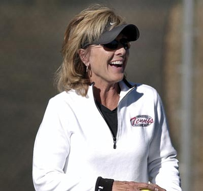 Courtesy photo<br /><br /><!-- 1upcrlf2 -->Binki Thalheimer didn't start playing tennis until she was a high school freshman, but still was named the top over-55 player in the U.S.