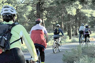 Cyclists hit the trail in Grand Canyon National Park. NPS photo