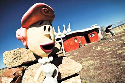Wilma Flintstone waits for visitors at Bedrock City. Ryan Williams/WGCN