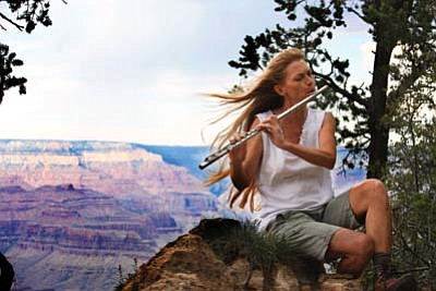 Flutist, composer and poet Linda Chase is currently South Rim Artist in Residence until Aug 31. Submitted photo
