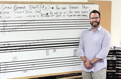 Grand Canyon School music teacher Bentley Monk. Clara Beard/WGCN<br /><br /><!-- 1upcrlf2 -->