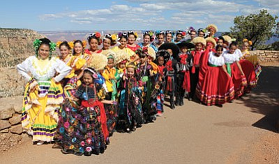 Members of Flagstaff's Ballet Folklorico de Colores enjoy Grand Canyon following their performance on the Hopi Stage on the South Rim Sept. 29. Submitted photo