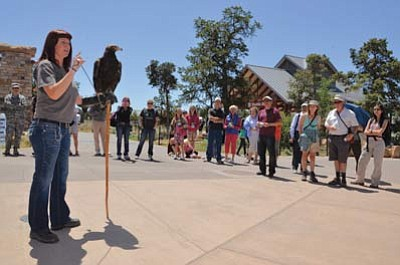 An animal demonstration at last year's event. Photo/NPS