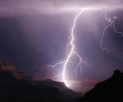 Lightning at Grand Canyon. Submitted photo.