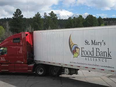 St. Mary's food truck. Photo/St. Mary's Food Bank Alliance