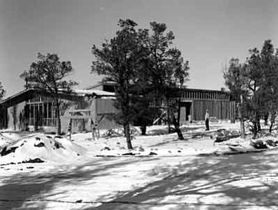 Mission 66 Albright Training Center under construction in January 1963. Photo/NPS