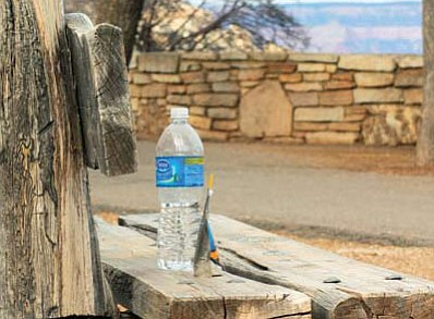 Grand Canyon National Park banned the sale of disposable water bottles like the one pictured above in 2012.  Ryan Williams/WGCN