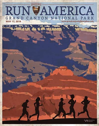 The official Grand Canyon Half Marathon poster. Submitted graphic