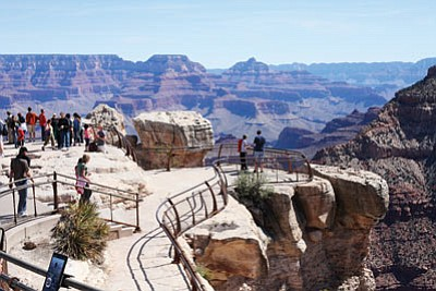Officials at Grand Canyon National Park report that someone fell 400 feet to their death into Grand Canyon at Mather Point April 28. Ryan Williams/WGCN