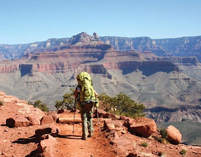 A hiker on the Arizona Trail. Submitted photo<br /><br /><!-- 1upcrlf2 -->